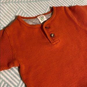 Gap orange Henley shirt